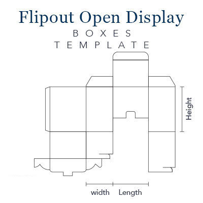 Flip Out Open Display Boxes